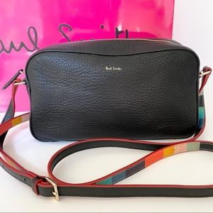 NWOT Paul Smith Black Leather Crossbody Bag